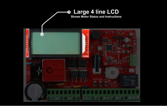 Large 4 line LCD