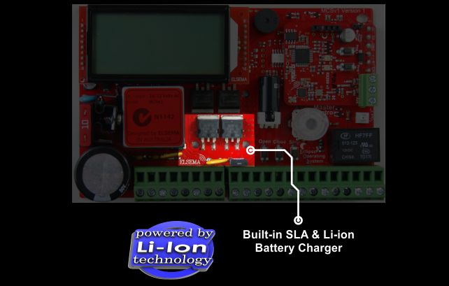 Built-in SLA & Li-ion Battery Charger