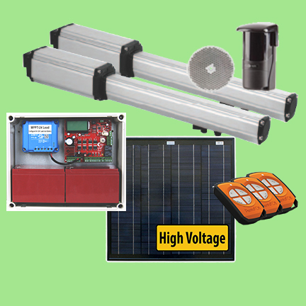 Solar swing gate motor kit