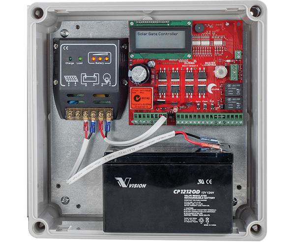12V Solar gate controller